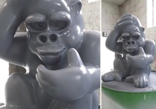 moulage-sculpture-petit-singe-gris-laque